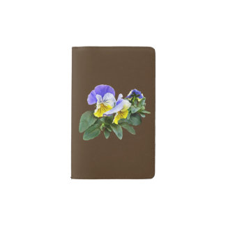 Group Of Yellow And Purple Pansies Pocket Moleskine Notebook