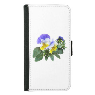 Group Of Yellow And Purple Pansies Samsung Galaxy S5 Wallet Case