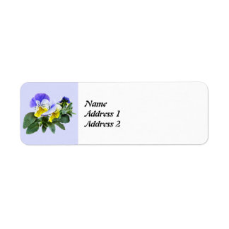 Group Of Yellow And Purple Pansies Save the Date