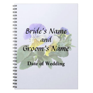 Group Of Yellow And Purple Pansies Wedding Product Notebook
