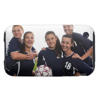 group portrait of teen girl soccer players tough iPhone 3 cases