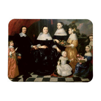 Group Portrait said to be the Kuysten Family Rectangular Photo Magnet