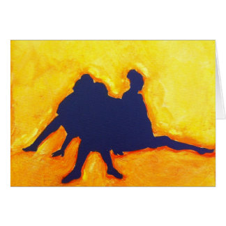 Group Silhouette Blank Card