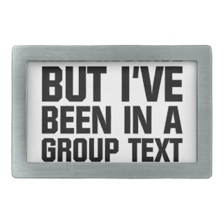 Group Text Belt Buckle