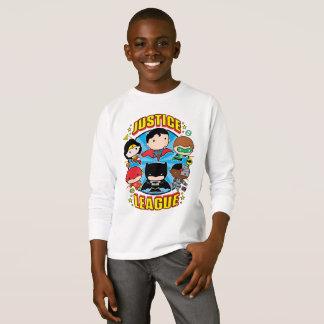 Groupe de ligue de justice de Chibi T-shirt