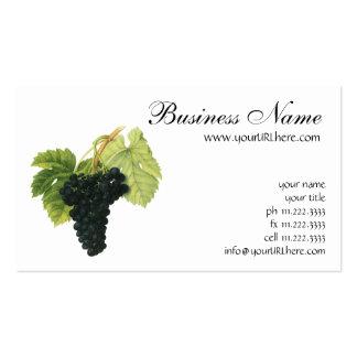Groupe organique vintage de raisin de vin rouge, carte de visite standard
