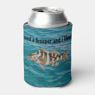Grouper Gift Men's Fishing Decor Fisherman Decor Can Cooler