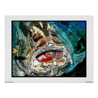 Grouper's mouth poster