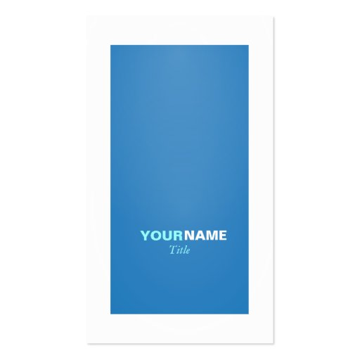 Groupon Modern Dazzling Blue Business Card Template
