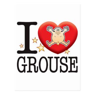 Grouse Love Man Postcard