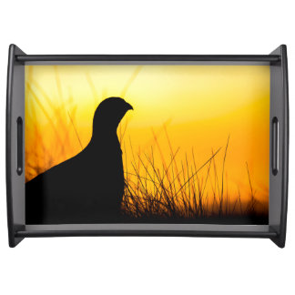 Grouse Silhouette Serving Tray