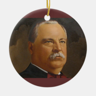 Grover Cleveland  22 &24th President Ceramic Ornament