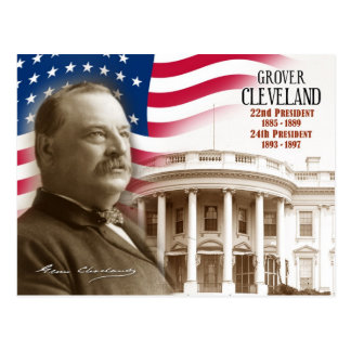 Grover Cleveland - 22nd & 24th President of the US Postcard