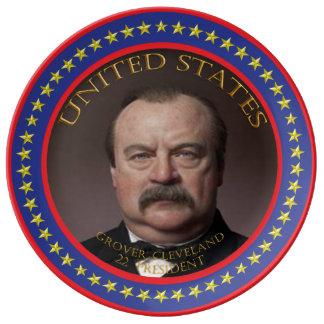 Grover Cleveland 22nd President Plate