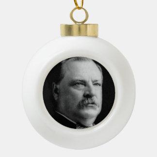 Grover Cleveland Ceramic Ball Ornament