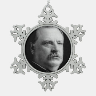 Grover Cleveland Pewter Snowflake Ornament
