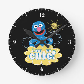 Grover Cute Round Clock