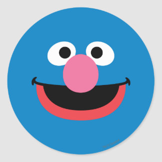 Grover Face Art Classic Round Sticker