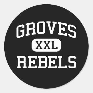 Groves - Rebels - High School - Savannah Georgia Round Stickers