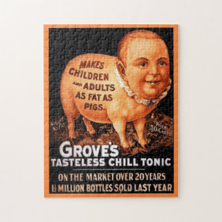 Groves Tonic makes children and adults fat as pigs Puzzles