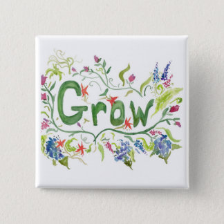 Grow 2 Inch Square Button