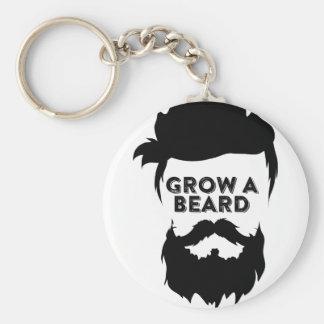 Grow a beard then we will talk basic round button keychain