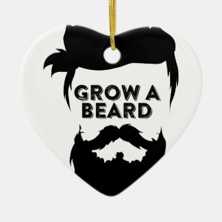 Grow a beard then we will talk ceramic ornament