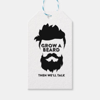 Grow a beard then we will talk gift tags
