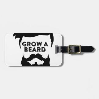 Grow a beard then we will talk luggage tag