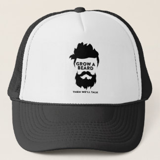Grow a beard then we will talk trucker hat