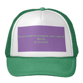 grow a new subjectivity trucker hat
