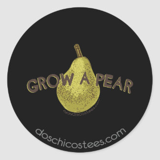 Grow A Pear Round Sticker