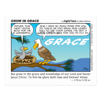Grow in Grace postcard