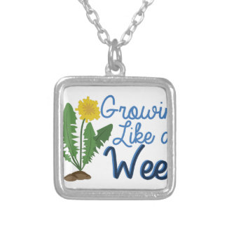 Grow Like Weed Silver Plated Necklace