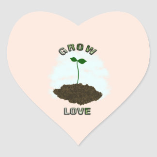 Grow love sticker