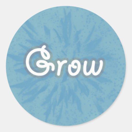 Grow on Blue Pattern Sticker