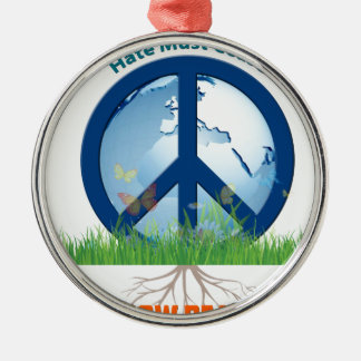 Grow_Peace1.PNG Silver-Colored Round Ornament