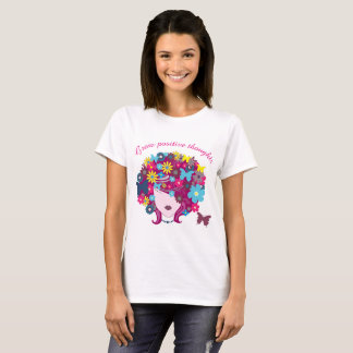 Grow positive thoughts - Floral head T-Shirt