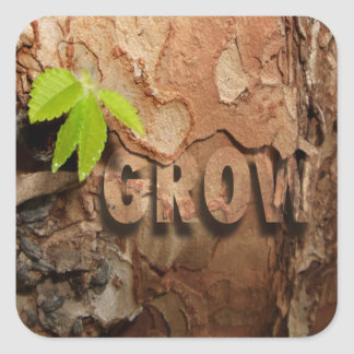 Grow Square Sticker