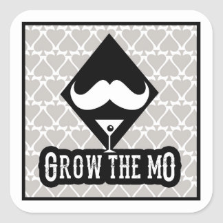 Grow The Mo - Stickers - Diamonds Edition