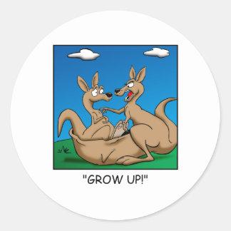 Grow Up! Round Sticker