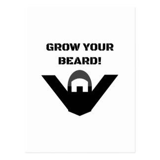 Grow Your Beard! Postcard