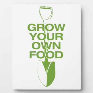GROW YOUR OWN FOOD PLAQUE