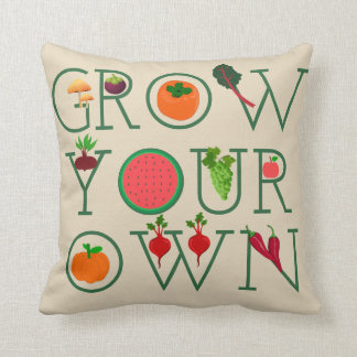 Grow Your Own Throw Pillow