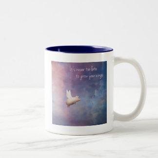 grow your wings Two-Tone coffee mug
