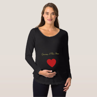 Growing a new human maternity T-Shirt