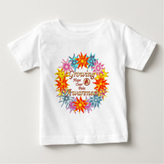 Growing Awareness Hope Over Pain Phoenix Flowers Baby T-Shirt