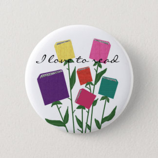 Growing books, I love to read button