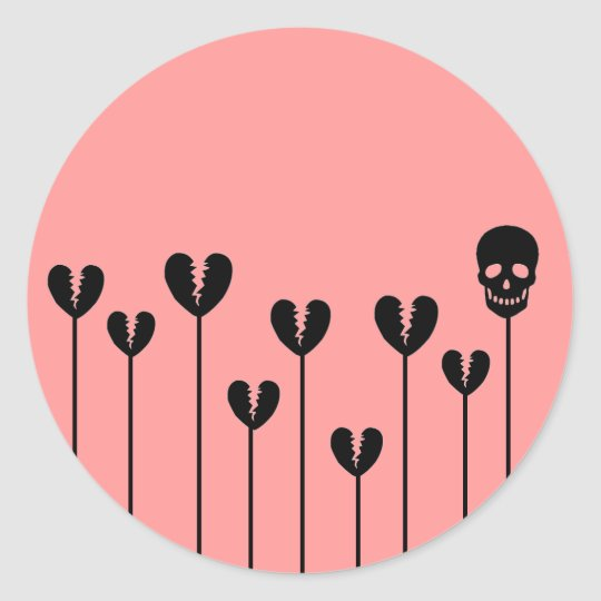 Growing Broken Hearts Classic Round Sticker
