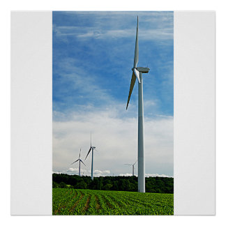 Growing Corn and Windmills Poster/Print Poster